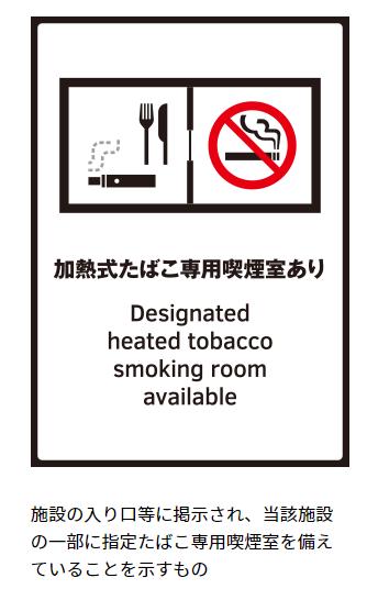 加熱式たばこ喫煙可能の目印